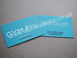 Litho colour printed and laminated business cards