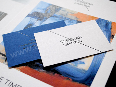 Duplexed sapphire and white colorplan business cards