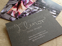 Silver foil business cards printed on loop urban grey and advocate.