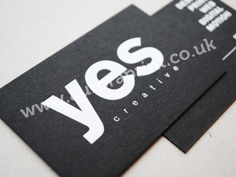 Black and white business cards yes creative