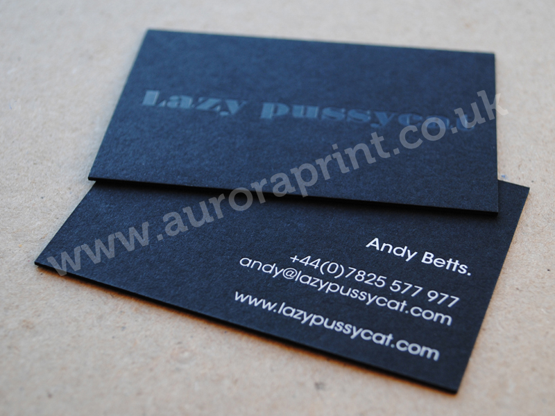 Black and white business cards matt and smooth textured stocks matt black business cards printed with gloss blackwhite foils reheart Image collections
